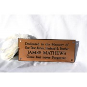 Engraved Bench Memorial Plaque Gold