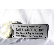Engraved Bench Memorial Plaque Silver