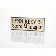 Engraved Staff name Badge Gold