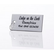 Engraved Key Fob Silver