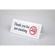 10 x No Smoking Sign Gold