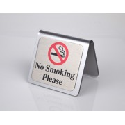 10 x No Smoking Sign Chrome
