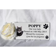 Pet Memorial Plaque White