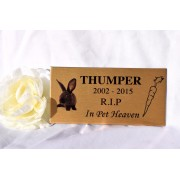 Pet Memorial Plaque Gold