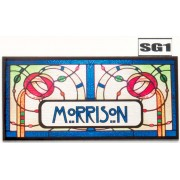 Stained Glass Effect Name Plate