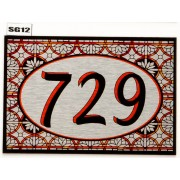 Stained Glass effect House Number SG12