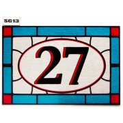 Stained Glass effect House Number SG13
